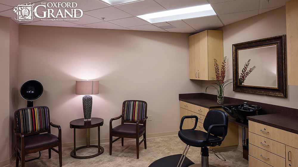 Salon services available at The Oxford Grand Assisted Living & Memory Care