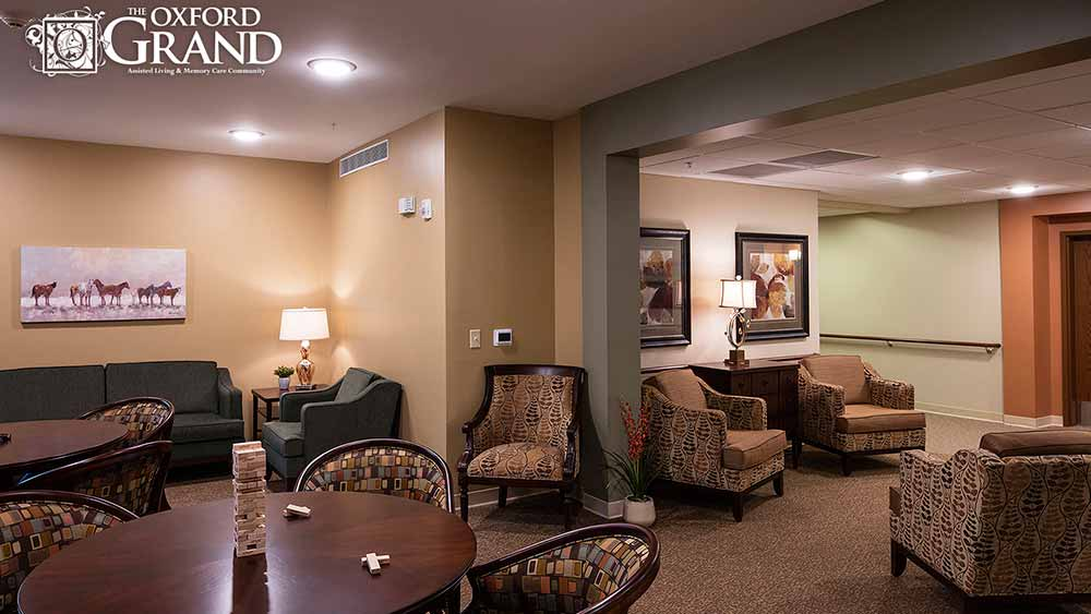 Activity room at The Oxford Grand Assisted Living & Memory Care