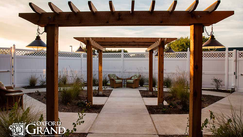 Outdoor spaces to enjoy at The Oxford Grand Assisted Living & Memory Care in Kansas City, Missouri