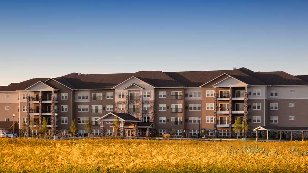 Exterior of Oxford Villa Active Senior Apartments