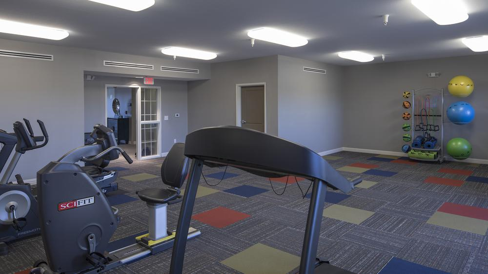 Exercise room at Oxford Villa Active Senior Apartments