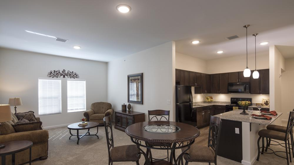 Comfy floor plan at Oxford Villa Active Senior Apartments