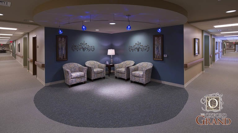 Lobby at The Oxford Grand Assisted Living & Memory Care
