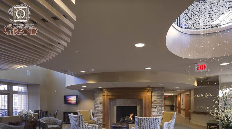 Lounge area at The Oxford Grand Assisted Living & Memory Care