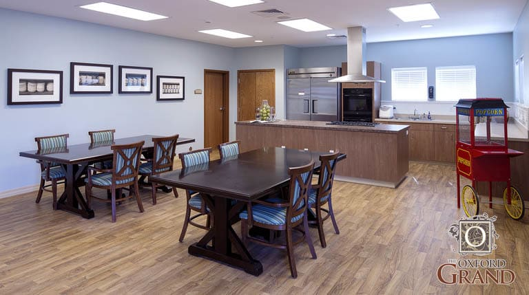 Activity area at The Oxford Grand Assisted Living & Memory Care