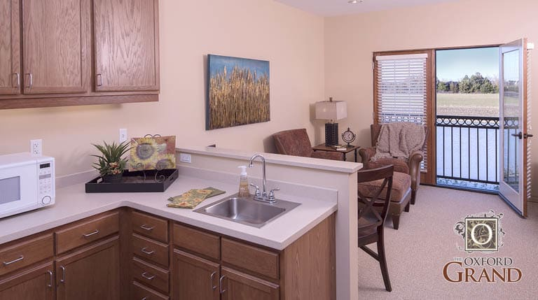 Kitchen at The Oxford Grand Assisted Living & Memory Care