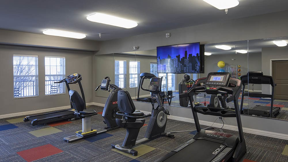 Treadmills at Oxford Villa Active Senior Apartments