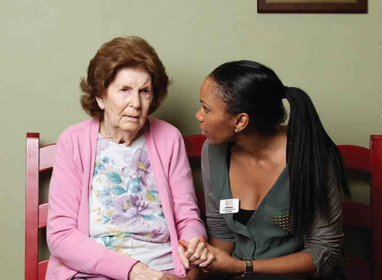 Professional staff at Oxford Glen Memory Care at Sachse