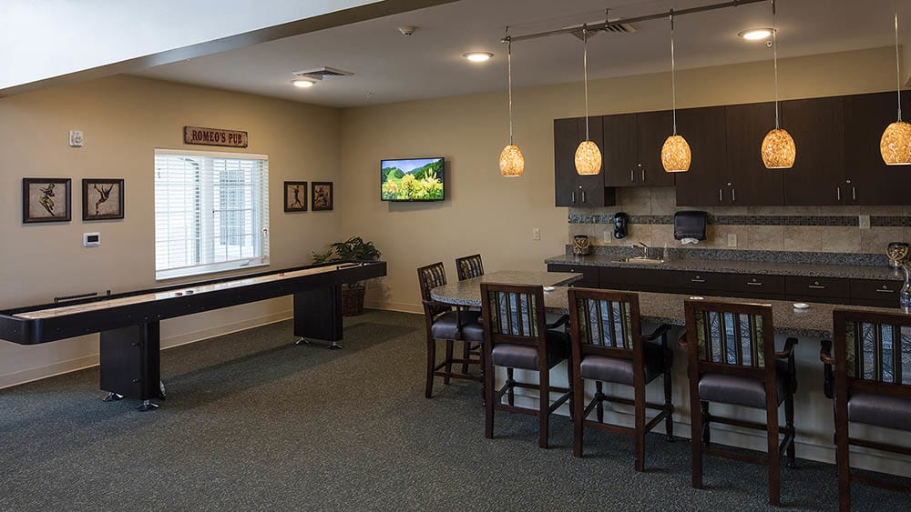Senior activity center at The Oxford Grand Assisted Living & Memory Care in McKinney, Texas