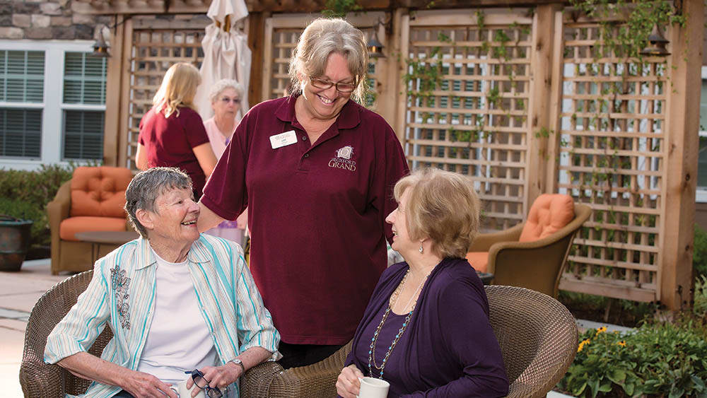 Outdoor activities at The Oxford Grand Assisted Living & Memory Care in McKinney, Texas
