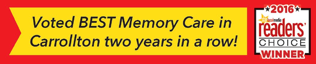 Oxford Glen Memory Care at Carrollton was voted best memory care two years straight