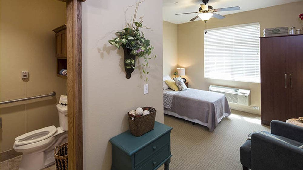 Studio senior floorplan at Oxford Glen Memory Care at Carrollton in Carrollton, Texas