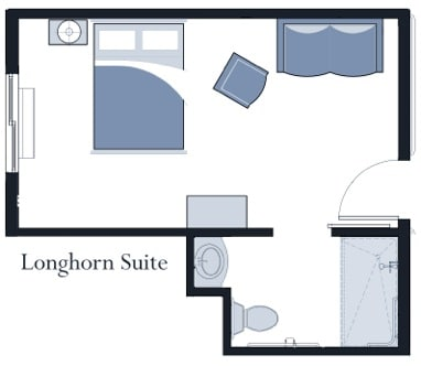 Longhorn suite at Oxford Glen Memory Care at Carrollton