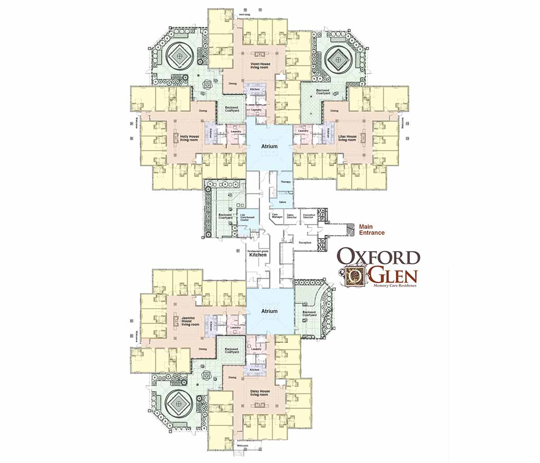 Map of Oxford Glen Memory Care at Carrollton