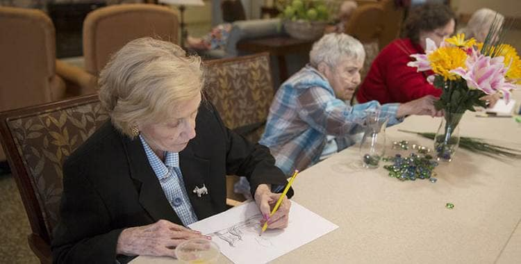Social activities at Oxford Glen Memory Care at Owasso