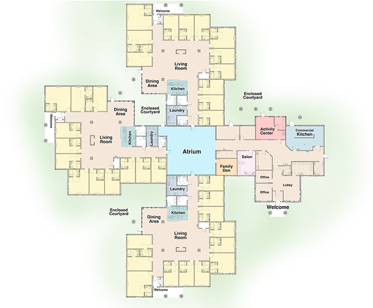 Oxford Glen Memory Care at Owasso Residence Map