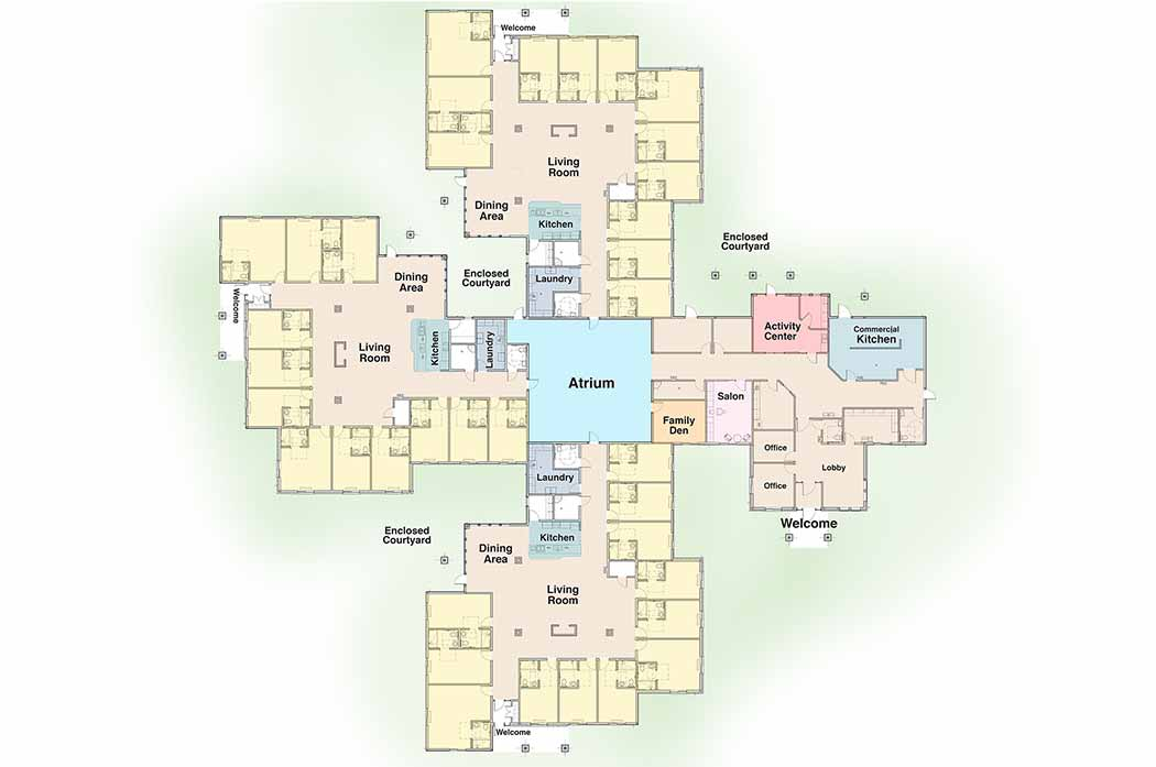 Map of Oxford Glen Memory Care at Grand Prairie