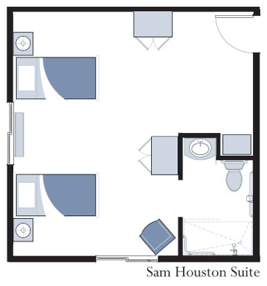 Sam Houston Suite at Oxford Glen Memory Care at Grand Prairie