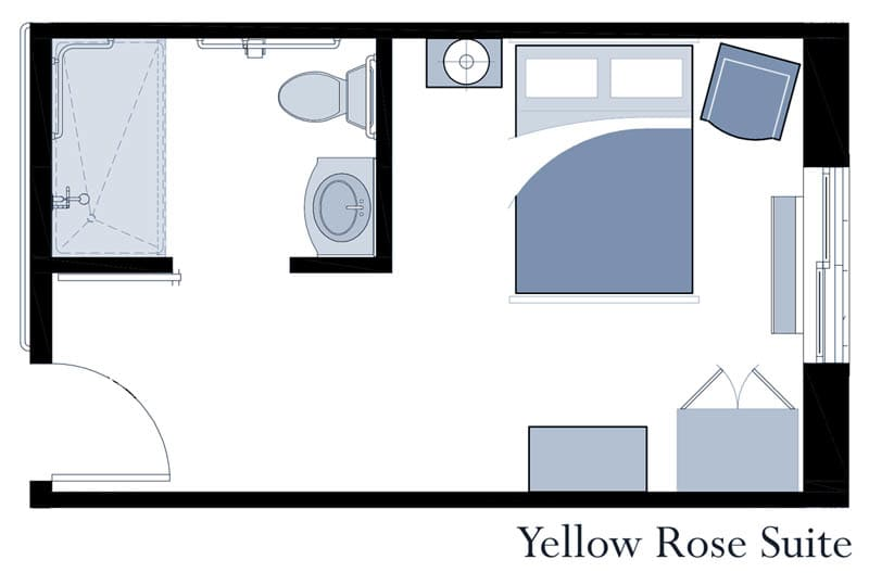 Yellow Rose suite at Oxford Glen Memory Care at Grand Prairie