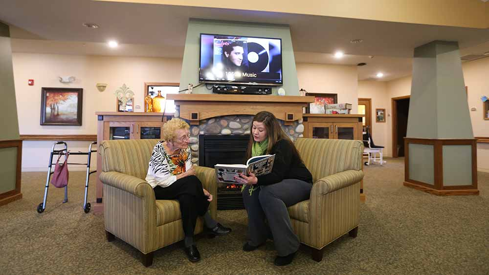 Caring staff at Glen Carr House Memory Care in Derby, Kansas