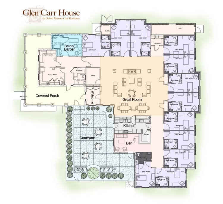 Map of Glen Carr House Memory Care