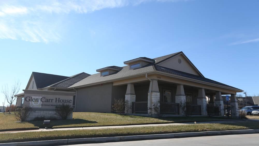 Exterior of Glen Carr House Memory Care in Derby, Kansas