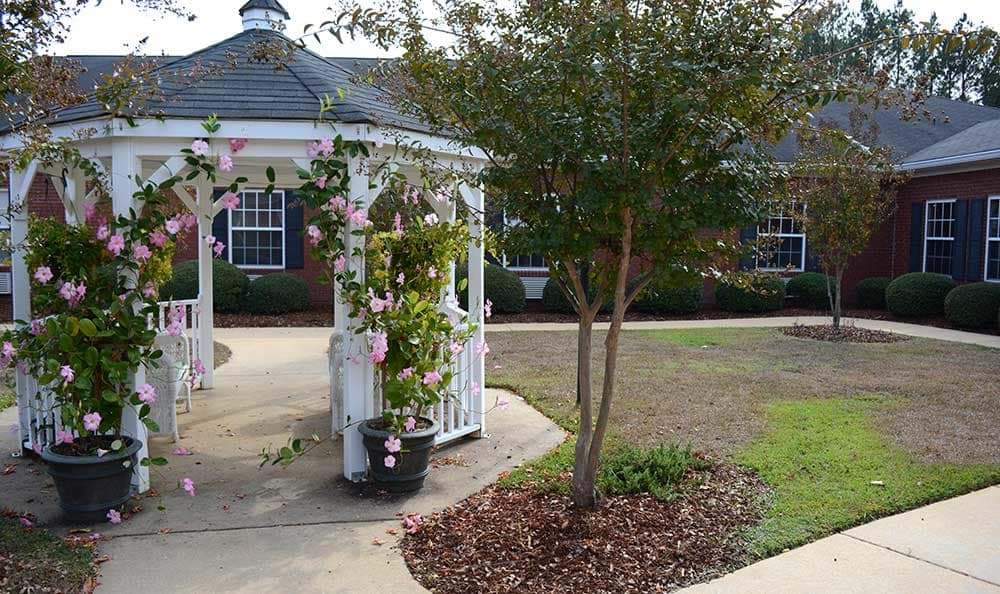 A fancy gazebo will delight you and your family at Morning Pointe of Tuscaloosa