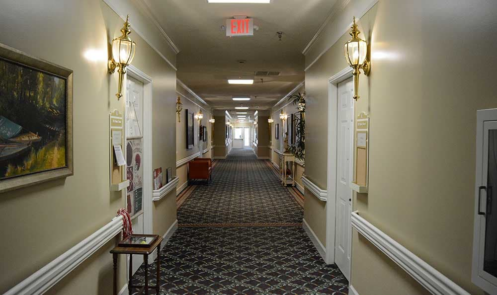 Walk the hallways and enjoy the decorations at Morning Pointe of Tuscaloosa