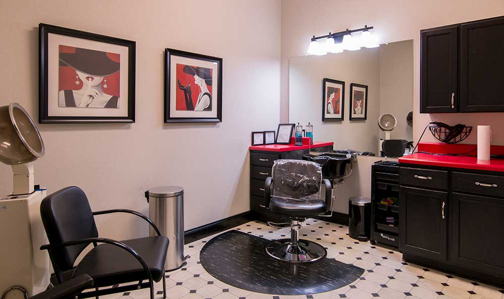 A salon at The Lantern at Morning Pointe Alzheimer's Center of Excellence, Clinton