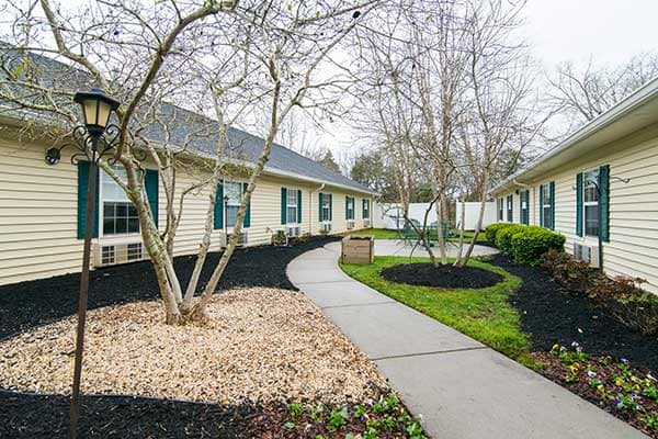 The courtyard at The Lantern at Morning Pointe Alzheimer's Center of Excellence, Clinton will amaze you.