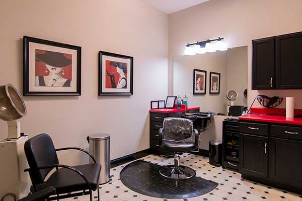 Get your hair done at the salon in The Lantern at Morning Pointe Alzheimer's Center of Excellence, Clinton