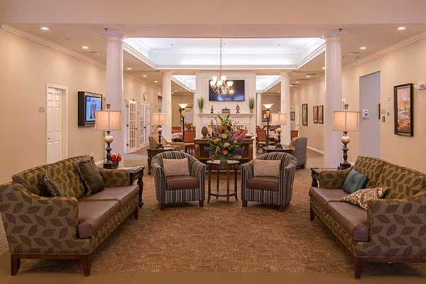 The grand entry area at The Lantern at Morning Pointe Alzheimer's Center of Excellence, Clinton