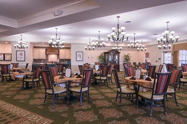 The dining room at Morning Pointe of Louisville will amaze you.