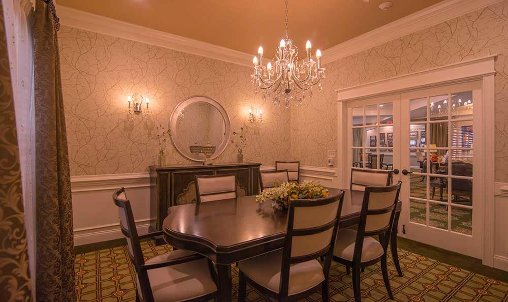 Morning Pointe of Louisville offers private dining.
