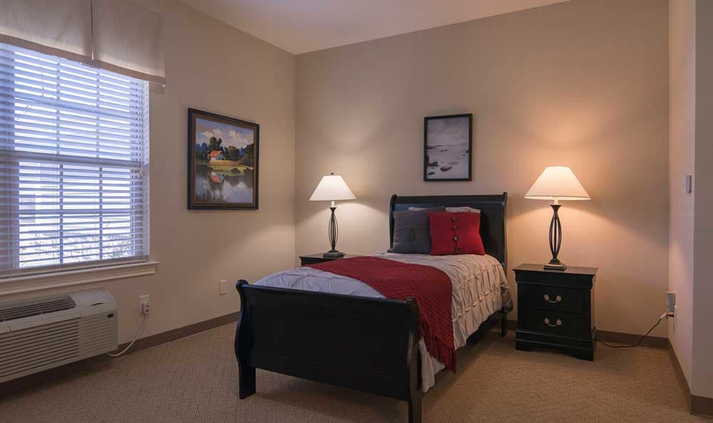 A residence room at Morning Pointe of Louisville