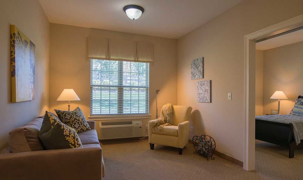 An example of a residence's room at Morning Pointe of Louisville