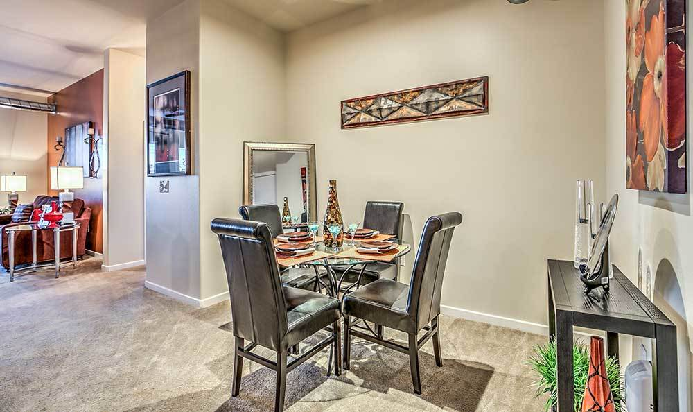 Dining room at our Las Vegas apartments