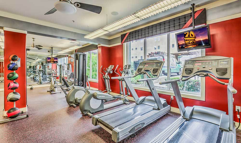 Lofts at 7100 offers cardio equipment