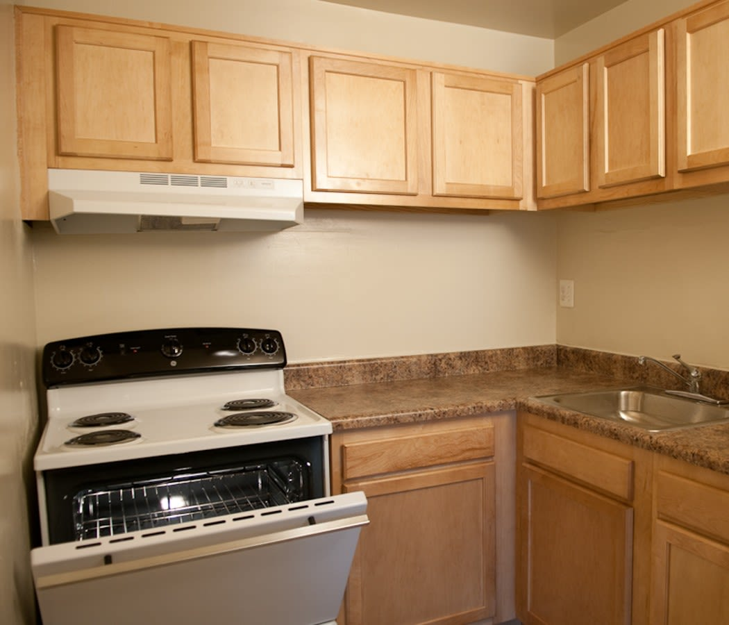Updated kitchen at Colonial Village in Manassas, VA
