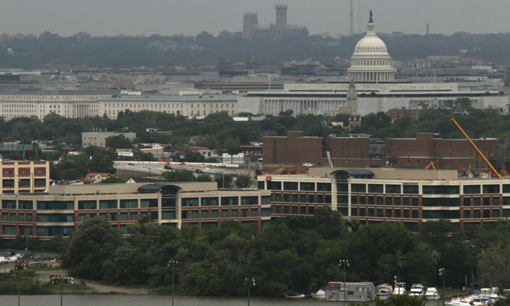 Marbury Plaza features a spectacular view of Washington