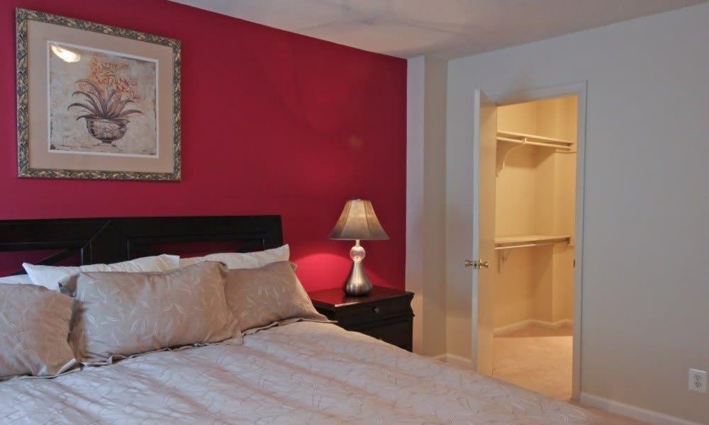 Bedroom with walk-in closet at Marbury Plaza in Washington