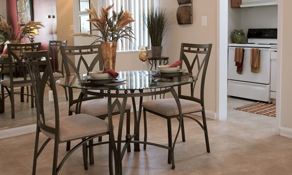 Dining area at Park Forest Apartments in Oxon Hill