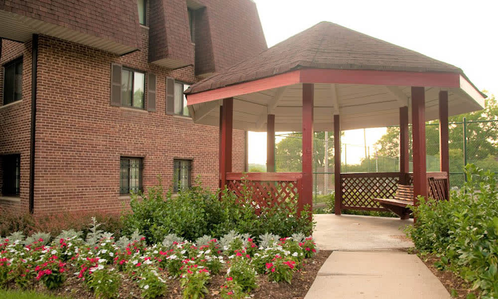 Beautiful gardens at Park Forest Apartments in Oxon Hill