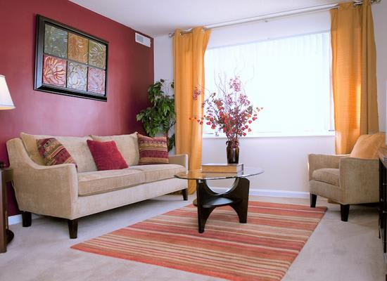 Spacious living room at Park Forest Apartments in Oxon Hill