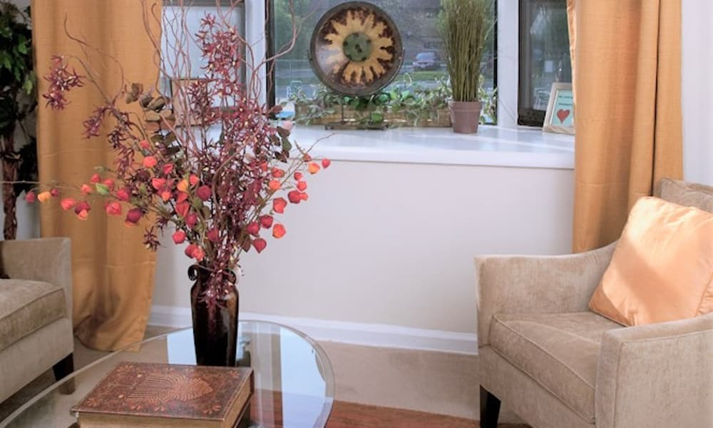 Gorgeous living room at Park Forest Apartments in Oxon Hill
