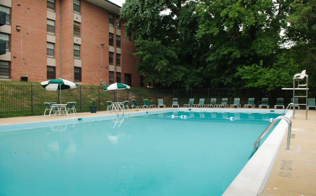 Refreshing swimming pool at Park Naylor Apartments in Washington