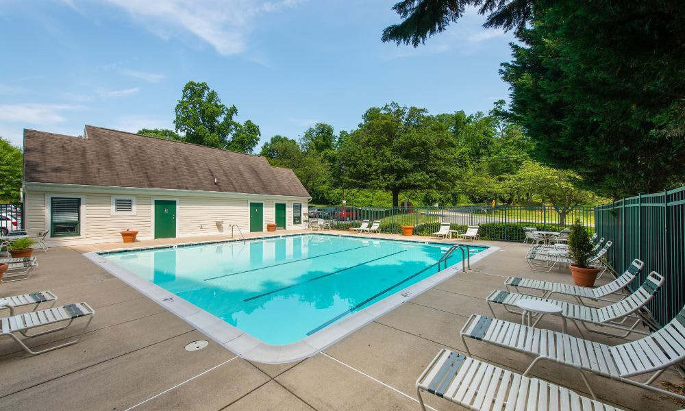 Refreshing swimming pool at Pooks Hill Tower and Court in Bethesda
