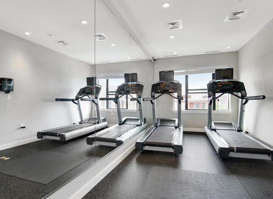 Fitness center at The Aria on L