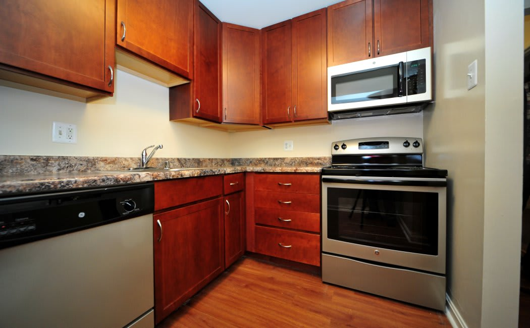Updated kitchen at Washington Apartments in Washington