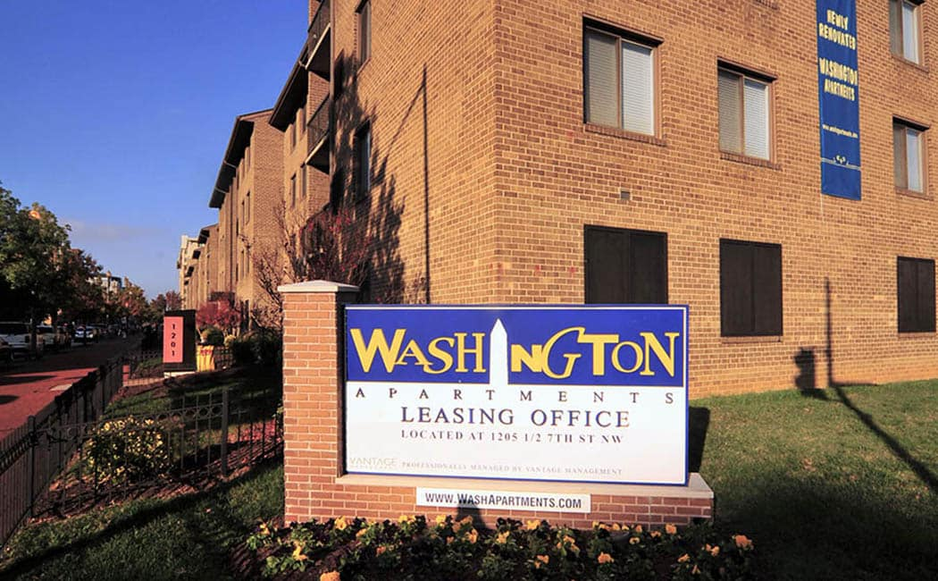 Washington Apartments is ideally located for the Washington living you love.